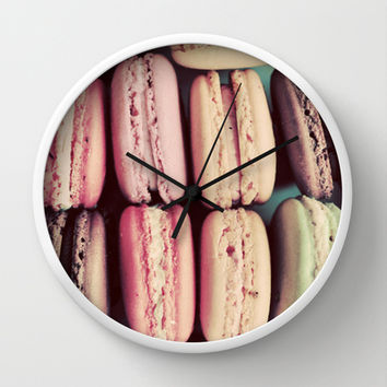 Macarons Wall Clock by Elle Moss