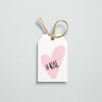 BAE, Printable Gift Tags, Gift Tag Set, Instant Download, Love, Valentine's Day, Gift Ideas, Wedding Printable, Printable Tags, Typography