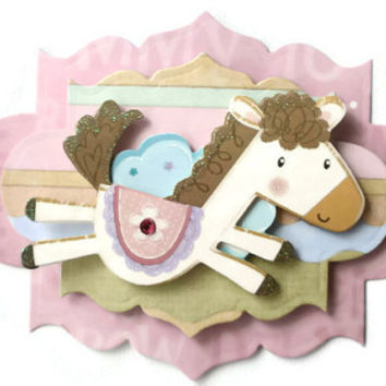 Baby, Pony,  Scrapbook Embellishment, Paper piecing, gift tags, Scrapbooking Layouts, Cards, Mini Albums, brag book, Crafts, journal