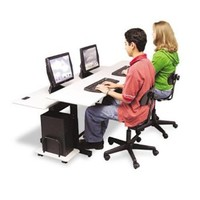 BALT 83080 - Split-Level Computer Training Table, 72 x 36, Steel Base (Box One)