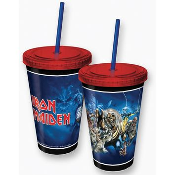 Iron Maiden Straw Tumbler