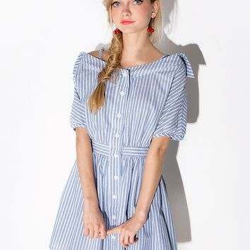 Katy stripe shirt dress