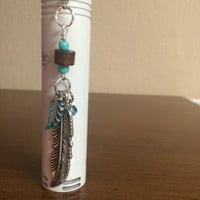 Silver Feather Vape Charm