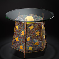 Mars Lander by Lanny Bergner (Metal Side Table) | Artful Home