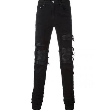 Indie Designs Distressed Layer MX1 Black Jeans
