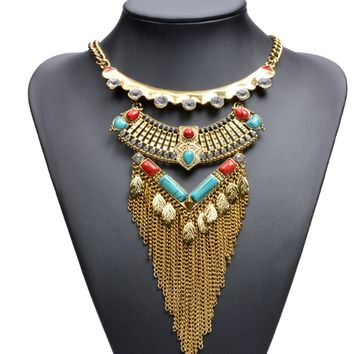 Retro Ethic Style Tassel Necklace