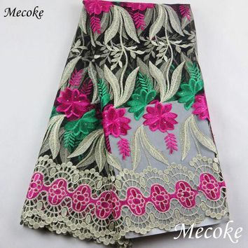 ONETOW wathet African Laces Fabrics Embroidered nigerian Guipure French Lace Fabric High-quality 2017 African French Net Lace Fabric