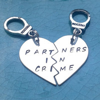 Partners In Crime Necklace  Silver Filled  Best by StuffByStace