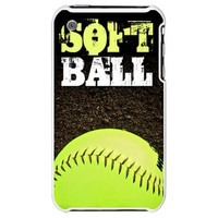 Softball iPhone 3G Hard Case on CafePress.com