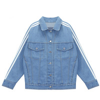 Denim Jacket with Stripe Detail