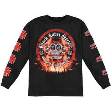 Black Label Society Men's   Long Sleeve Black Rockabilia