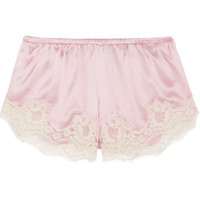Dolce & Gabbana - Lace-trimmed stretch silk-blend satin briefs