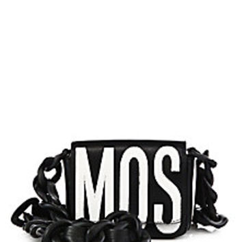 Moschino - Colorblock Leather Logo Chain Strap Bag - Saks Fifth Avenue Mobile