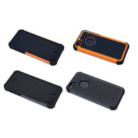 Shockproof Hybrid Protective Case in Black for iPhone 5 / 5s