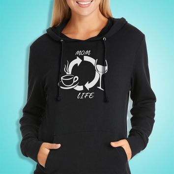 Mom Life Wine Mom Mother'S Day Gift Women'S Hoodie