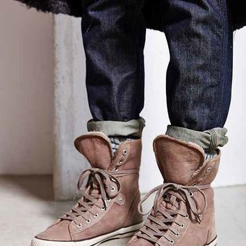 Ash Vanna Sherpa Lined High-Top Sneaker-