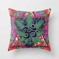 namaste Throw Pillow by Natasha Gualy