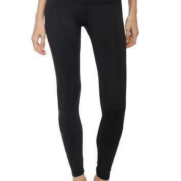 Strut This Black Glitter Star Legging