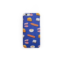 Toner Grid Breakfast iPhone Case