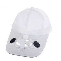 Viproo® Solar Powered Air Fan Cooled Baseball Golf Hat, Camping Traveling Solar Fan Cap (White)