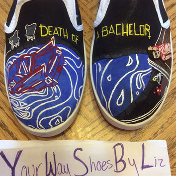 Custom Hand Painted Panic! at the Disco - Death of A Bachelor Shoes