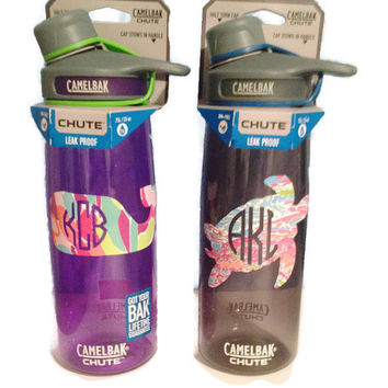 Personalized Monogram Camelbak Chute Water Bottles