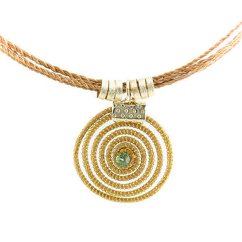 Handmade Eco friendly Capim Dourado Golden Grass Sun Pendant Necklace, Brazil, Jewelry, Fashion Jewelry, Vegetal Gold, Brazilian Straw