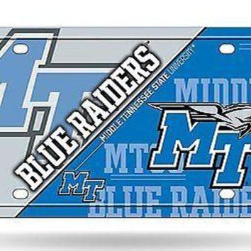 ICIKIHN Middle Tennessee State Blue Raiders MTSU NSD Metal License Plate Tag University