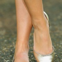 Step On Your Toes Flats-Champagne