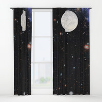 Moon machinations Window Curtains by anipani