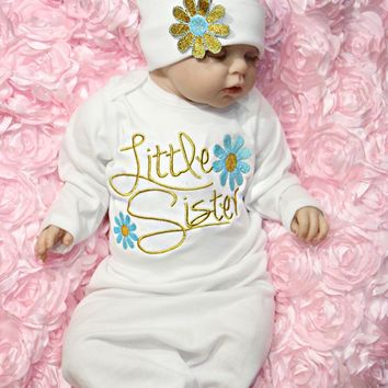 Newborn-Baby-Girl-Take-Home-outfit-Embroidery-Christmas-Gift-Set-Baby-Gown-USA