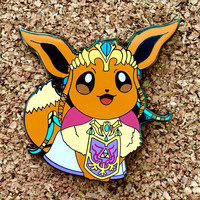 Eevee as Zelda Lapel Pin Pokemon Zelda Crossover