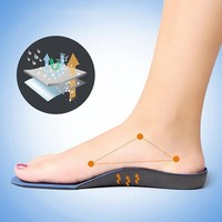 3D Flatfoot Orthopedic Insoles Shoes Pads Foot Correction Device Orthotic Arch Support Foot Care