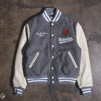 Motivation x Golden Bear '8 Year' Varsity Jacket Grey / Cream