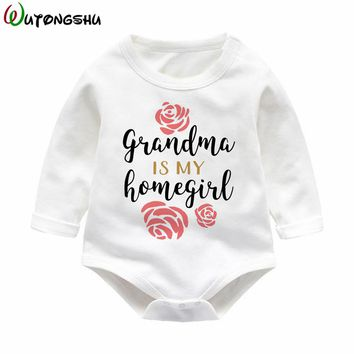 Grandma Gift Long Sleeve Baby One Piece Warm Baby Body Suit For 0-12Months Cute Baby Clothes Jumpsuits Infant Baby Body Outfit