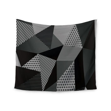 "Louise Machado ""Gray Pallete"" Black Gray Wall Tapestry"