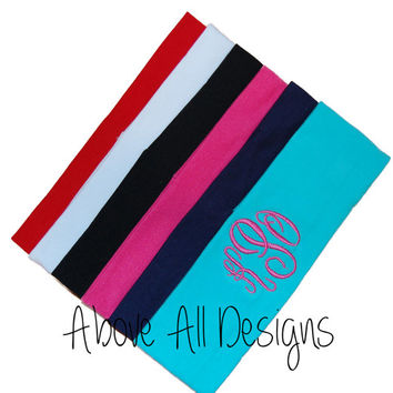 Custom MONOGRAMMED Knit Headbands