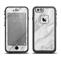 The White Marble Surface Skin Set for the Apple iPhone 6 LifeProof Fre Case