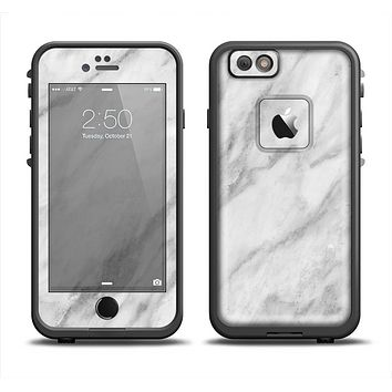 The White Marble Surface Apple iPhone 6/6s Plus LifeProof Fre Case Skin Set
