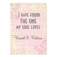 Bible Verse Song of Solomon Vintage Wedding