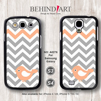 Samsung Galaxy S4 case, Samsung Galaxy S3 case, Phone Cases, Phone Covers, Skins, Case for Samsung, Chevron Bird-A0276