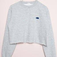 NANCY CA BEAR EMBROIDERY SWEATSHIRT