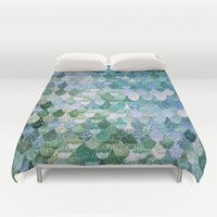 REALLY MERMAID Duvet Cover by Monika Strigel