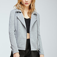 Heathered Knit Moto Jacket