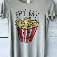 Funny Fryday Tee Shirt in Grey