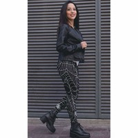 Spider Web Halloween Costume Leggings