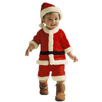 Kids Christmas Clothing Set Santa Claus Costume For Kids Xmas Party Clothes romper hat 2 pcs sets Baby Cute wear 66