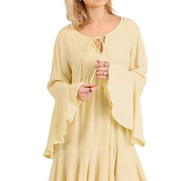 Umgee Sweet and Sassy! Bell Sleeve Babydoll Tunic or Dress