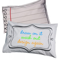 Doodle by Stitch Draw-On-Wash-Off Pillowcase at Brookstone—Buy Now!