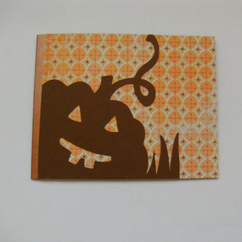 Card Halloween Jack O Lantern Pumpkin Fall